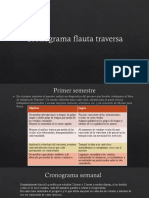 Cronograma Flauta Traversa