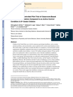 A Randomized Controlled Pilot Trial of Classroom-Based