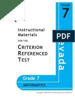 Grade 7 Math Nevada CRT Instructional Materials