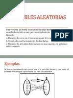 variables aleatoria(estadística)