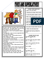 Comparatives and Superlatives Reading Comprehension Exercises 61233