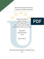 Paradigmas de Investigacion en Psicologia Fase 3 Final
