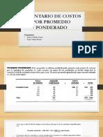 Inventario de Costos Por Promedio Ponderado