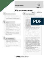 Fgv 2018 Camara de Salvador Ba Assistente Legislativo Municipal Prova