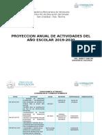 Programacion Anual de Actividades Del Año Escolar 2019