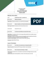 55° Coloquio IDEA  Programa actualizado al 15 de Octubre de 2019