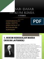 DASAR-DASAR HUKUM KIMIA Mutia, Nisa, Greis, Ida, Ghina