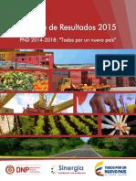 Balance de Resultados PND 2015