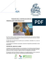15/10/19 TRADICIÓN ORAL E HISTORIA EN UN RÍO DE LIBROS