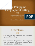 The Philippine Geographical Setting