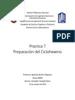 prepaacion del ciclohexeno