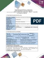 Guía de Actividades y rúbrica de evaluación - Paso 2 - Ejecución, descriibir la categoría regional.docx