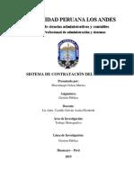 Sistema de Contratciones Del Estado