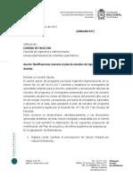 GIBALABI 037. Modificaciones Menores Al Plan de Estudios de Ingeniería Agroindustrial.