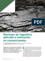 Nociones de Ingenieria Aplicada a Reservorios No Convencionales