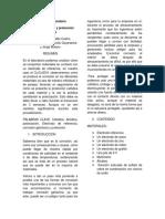 Informe de Laboratorio Corrosion, Proteccion Galvanica Proteccion Catodica