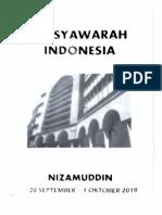 Hasil Musyawarah Indonesia Di Nizamuddin 2019