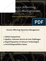 Factors Affecting Om