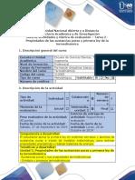 Guía de actividades y rúbrica de evaluación - Tarea 2 - Cálculo de propiedades de las sustancias puras y la primera ley de la termodinámica.docx