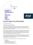 10 Creative Uses of Ppt