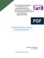Alteraciones en el sistema estomatognatico y sus tratamientos con ortopedia maxilar