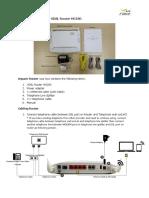 Installation Guide for VDSL Router HG180