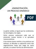 LA ADMINISTRACIÓN, Proceso Dinamico