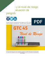 GTC 45 y el nivel de riesgo en la evaluación de peligros.docx