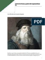 Leonardo Filosofo de La Forma y Padre Del Esquematismo Tecno Cientifico