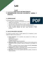 1. Teoría Celular 2. Organización Celular Procariota 3. Organización Celular Eucariota_ Animal y Vegetal