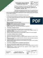 Isg-002 Instructivo Evaluacion Auditores Internos