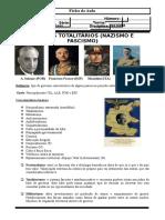 40 - Ficha de Aula - Regimes Totalitários