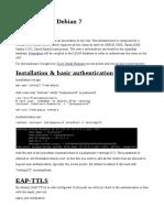 Freeradius on Debian 7