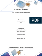 Algebra Lineal E-learning Tarea 1 -Vecto
