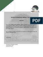 Carta Cristobal