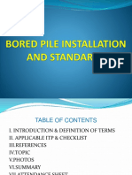 Bored Pile Installation ppt
