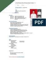 Contoh CV keren Desain Google