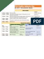 WPSA Poultry Industry Day Agenda 2019
