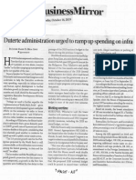 Business Mirror, Oct. 16, 2019, Duterte administration urged to ramp up spending on infra.pdf