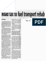 Daily Tribune, Oct. 16, 2019, Road tax to fuel transport rehab.pdf