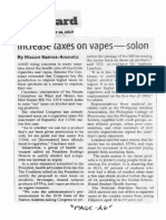 Manila Standard, Oct. 16, 2019, Increase taxes on vapes - solon.pdf