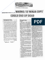 Manila Standard, Oct. 16, 2019, Magalong warns 13 Ninja Cops could end up dead.pdf