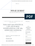 Notes and Cases Political Law and Public International Law Atty. Edwin Rey Sandoval – Pinay Jurist