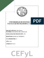 Programa Filosofia Del Lenguaje - UBA - Penelas 2018