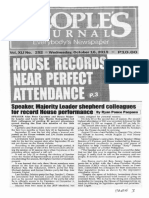 Peoples Journal, Oct. 16, 2019, House records near perfect attendance Speaker, Majority Leader shepherd colleagues for record House performance.pdf