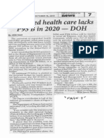 Philippine Star, Oct. 16, 2019, Expanded health care lacks P95B in 2020 - DOH.pdf