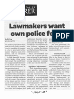 Philippine Daily Inquirer, Oct. 16, 2019, Lawmakers want own police force.pdf