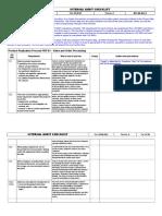 Audit Checklist - 04-12-2005