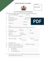 Nigeria Visa Form-1