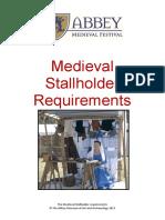 2018 Medieval Stallholder Requirements